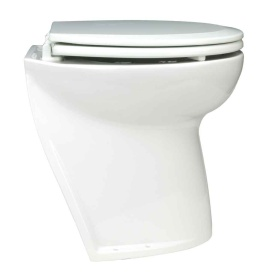 Deluxe Flush Electric Toilet - Fresh Water - Angled Back