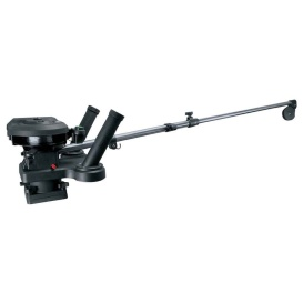 "1116 Propack 60"" Telescoping Electric Downrigger w/ Dual Rod Holders and Swivel Base"