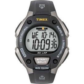 Buy Timex T5E901 Ironman Triathlon 30 Lap - Black/Silver - Outdoor