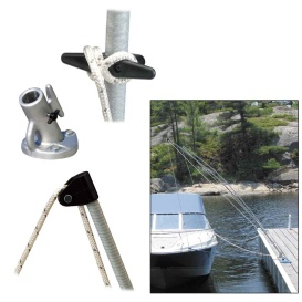Buy Dock Edge 3200-F Premium Mooring Whips 2PC 8ft 2,500 LBS up to 18ft -