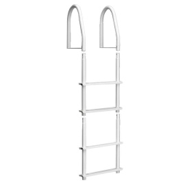 Buy Dock Edge 2104-F Fixed 4 Step Ladder Bright White Galvalume -