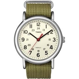 Buy Timex T2N651 Weekender Slip-Thru Watch - Olive Green - Outdoor