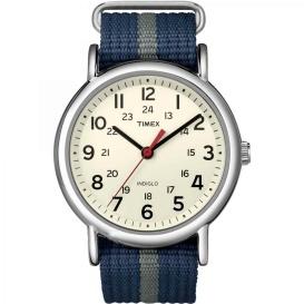 Buy Timex T2N654 Weekender Slip-Thru Watch - Navy/Grey - Outdoor Online RV