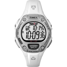 Buy Timex T5K515 IRONMAN 30-Lap Mid-Size Watch - White - Outdoor Online RV