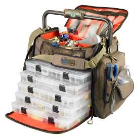 FRONTIER Lighted Bar Handle Tackle Bag w/5 PT3700 Trays