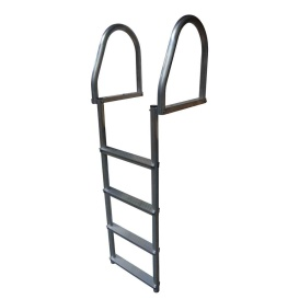 Buy Dock Edge 2174-F Aluminum 4-Step Eco Flip-Up Dock Ladder - Weld Free -