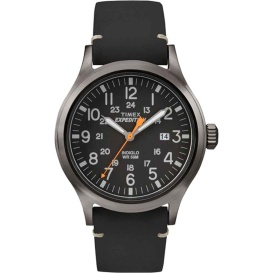 Buy Timex TW4B019009J Expedition Metal Scout - Black Leather/Black Dial -