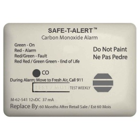 62 Series Carbon Monoxide Alarm - 12V - 62-541-Marine Surface Mount - White