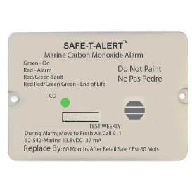 62 Series Carbon Monoxide Alarm - 12V - 62-542-Marine - Flush Mount - White