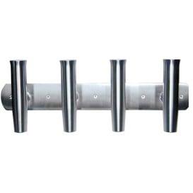 """Buy Tigress 88144-1 4 Rod Aluminum Transom Mount Rod Holder - 28"""" -"""