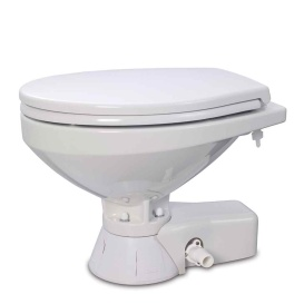 Quiet Flush Raw Water Toilet - Compact Bowl - 12V