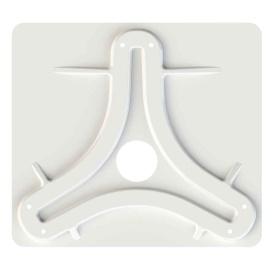 Buy King Controls MB8200 Jack /Omni Antenna Mounting Plate - White -