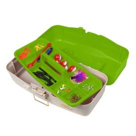 Ready Set Fish On-Tray Tackle Box - Green/Tan