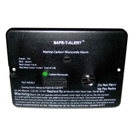 62 Series Carbon Monoxide Alarm - 12V - 62-542-Marine - Flush Mount - Black