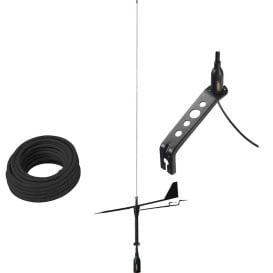 Buy Glomex Marine Antennas SGV80BWIBK Black Swan VHF Antenna w/Wind