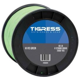 Buy Tigress 80001 High-Visibility 80lb Kite Braid - Green - Hunting &