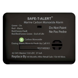 62 Series Carbon Monoxide Alarm - 12V - 62-541-Marine - Surface Mount - Black