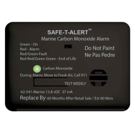 62 Series Carbon Monoxide Alarm w/Relay - 12V - 62-541-R-Marine - Surface Mount - Black