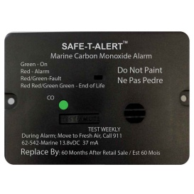 62 Series Carbon Monoxide Alarm w/Relay - 12V - 62-542-R-Marine - Flush Mount - Black