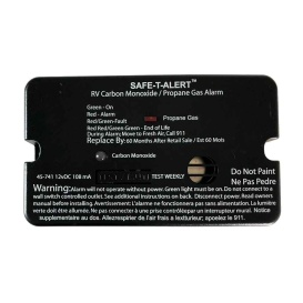 45-Series Combo Carbon Monoxide Propane Alarm Surface Mount - Black