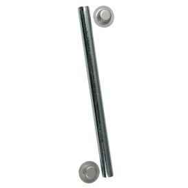 "Buy C.E. Smith 10700A Package Roller Shaft 1/2"" x 5-1/4"" w/Cap Nuts - Zinc"