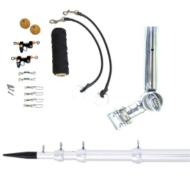 """Buy Tigress 89623 T-Top Clamp-On Telescoping System - 1-1/8"""" - Silver -"""