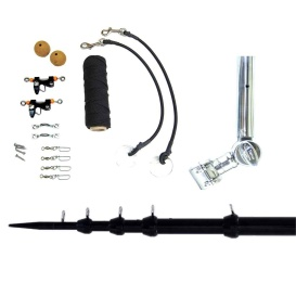 """Buy Tigress 89623-1 T-Top Clamp-On Telescoping System - 1-1/8"""" - Black -"""