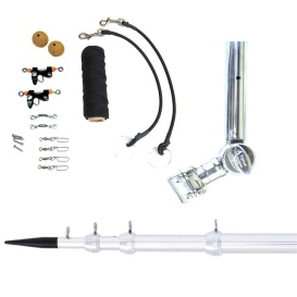 """Buy Tigress 89624 T-Top Clamp-On Telescoping System - 1-1/2"""" - Silver -"""