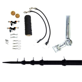 """Buy Tigress 89624-1 T-Top Clamp-On Telescoping System - 1-1/2"""" - Black -"""