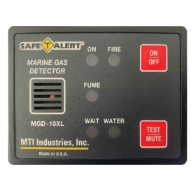 Gas Vapor Alarm Fume, Fire, Bilge Water - Black Surface Mount