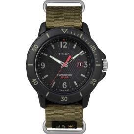 Buy Timex TW4B14500JV Gallatin Nylon Slip-Thru Watch - Solar Green/Black