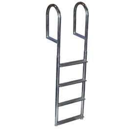 Buy Dock Edge DE2044F Welded Aluminum Fixed Wide Step Ladder - 4-Step -
