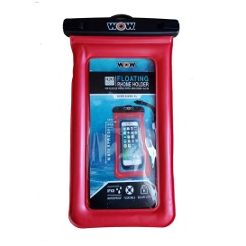 """Buy WOW Watersports 18-5010R H2O Proof Smart Phone Holder - 5"""" x 9"""" - Red"""
