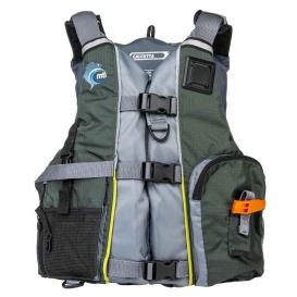 Buy MTI Life Jackets MV411E-833 Calcutta Fishing Life Jacket - Green/Grey