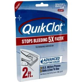 "Buy Adventure Medical Kits 5020-0025 QuickClot Gauze 3"" x 2' - Outdoor"