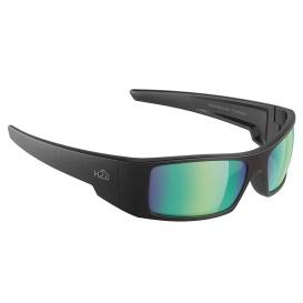 Buy H2Optix H2012 Waders Sunglasses Matt Black, Brown Green Flash Mirror