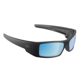 Buy H2Optix H2013 Waders Sunglasses Matt Gun Metal, Grey Blue Flash Mirror