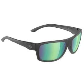 Buy H2Optix H2024 Grayton Sunglasses Matt Black, Brown Green Flash Mirror