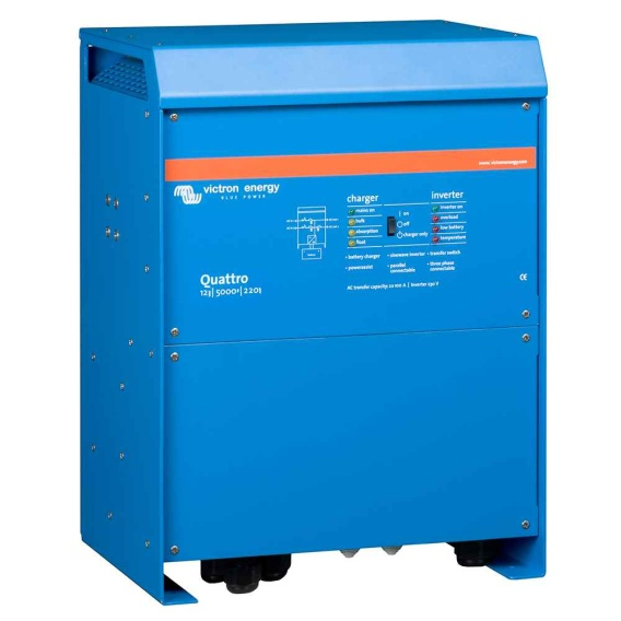 Buy Victron Energy QUA125021100 Quattro Inverter/Charger 12 VDC - 5000W